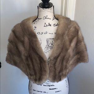 Vintage Felix Friedman Brown Fur Wrap